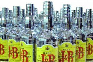 compfab chrome finish whisky bottle case